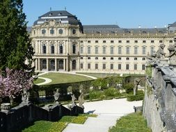 Neoclassical palace in park, Würzburg Residence, germany, würzburg