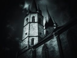 church dark at night darkness castle