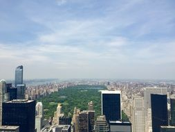 central park in top view of city, usa, manhattan, nyc