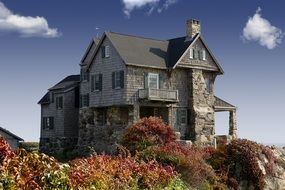 Natural stone country house