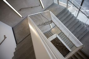 concrete staircase stairwell steps climb building