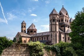 Maria Laach Abbey, medieval benedictine monastery, germany