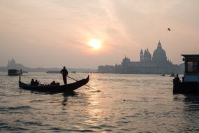 venice church italy architecture sunset