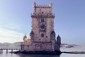 Belém Tower on Tagus River, formerceremonial gateway to Lisbon, portugal