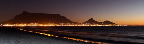 Night view of Cape Town