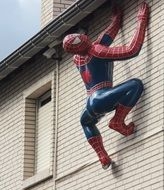 sculpture hauswand spiderman fig
