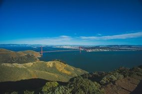 view panorama bay area golden bridge