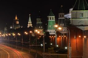 The kremlin night lights