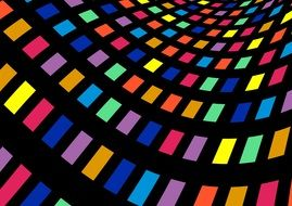 color table, bright pattern on black background