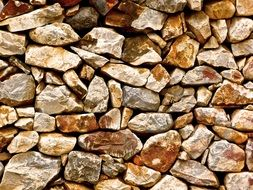 pattern stones wall constraction