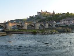 main bridge in Würzburg Bavaria