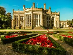 Highcliffe Castle at summer park, uk, england