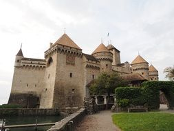 chillon castle the most visited tourist attraction on Lake Geneva in Switzerland