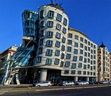 unusual building the dancing house prague