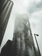 The building of modern architecture in the clouds