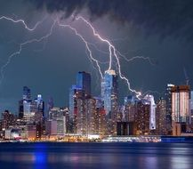 new york terrific lightning storm