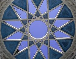 ceiling window of soviet uzbekistan pavilion, russia, moscow