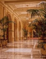 lobby at the Sheraton Palace Hotel