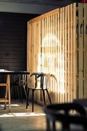 sun rays on wooden wall