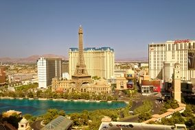 view of fabulous gambling city, usa, nevada, las vegas