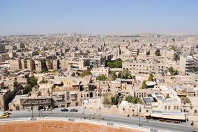 aerial view of aleppo