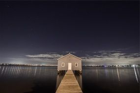 boat house on the water