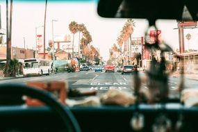 driving through la streets