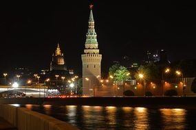 Night Moscow lights