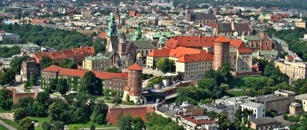 wawel castle in summer cityscape, poland, krakow