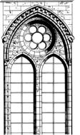drawing gothic window