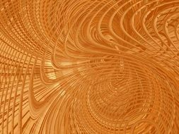 abstract golden fractal background