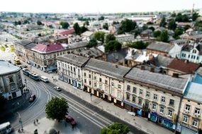 top view of old town, ukraine, lviv