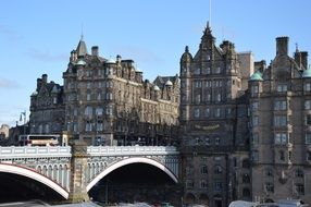 old town and north bridge, uk, scotland, edinburgh