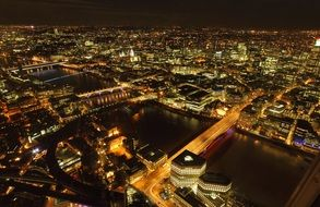 london night city panorama