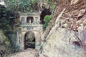 Ancient entrance in temple