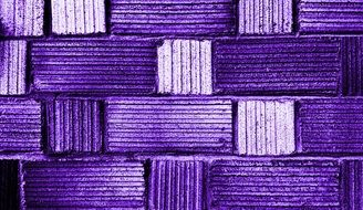 purple blocks, tile wall close up