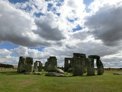 stonehenge under dramatic sky, uk, england