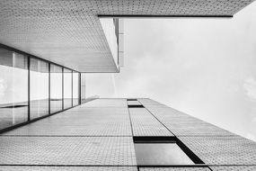 minimalistic architecture, low angle view of modern building