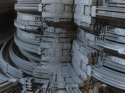 abstract industrial construction, 3d rendering