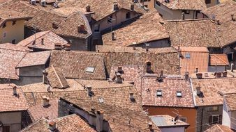 roofs homes old town italy red