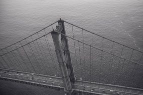 black and white photo of golden gate bridge