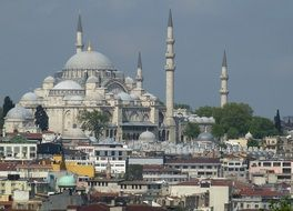 bosphorus mosque in city, turkey, istanbul