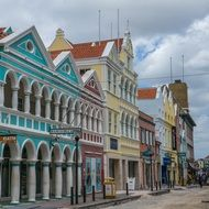 curacao architecture caribbean colorful