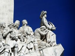 fragment of monument to the discoveries, portugal, lisbon