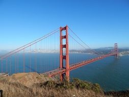 golden gate bridge at sunny day, usa, california, san francisco
