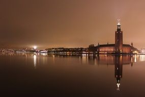 Stockholm city at night