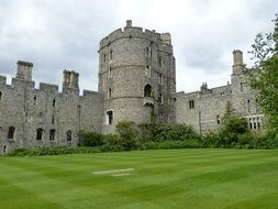 medieval windsor castle at summer, uk, england, london