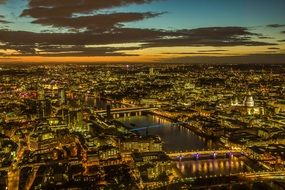 magik panorama night london city