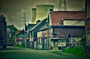 doel nuclear power station in village, belgium
