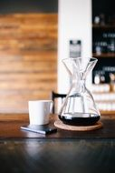 picture of coffee carafe and cup